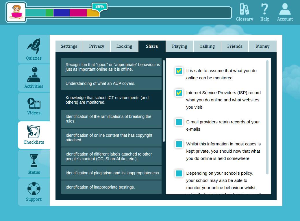 CyberPASS checklists